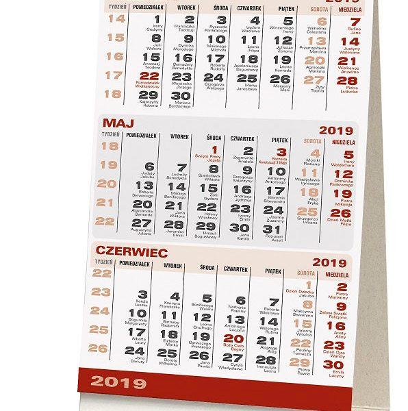 Kalendarz biurkowy stojący trójdzielny