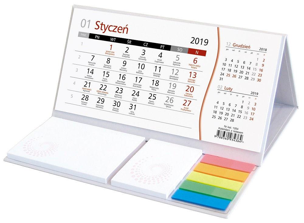 Kalendarz stojący poziomy
