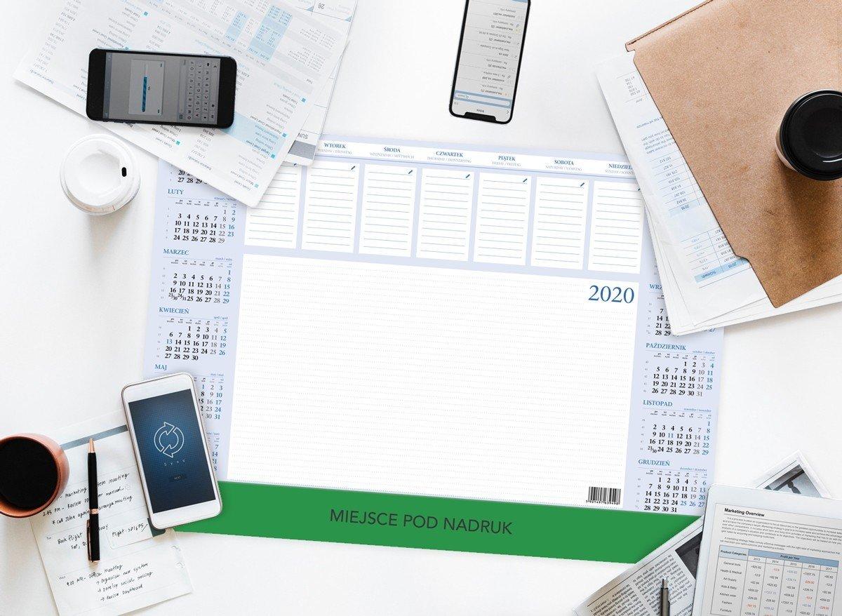 Kalendarz biurkowy biuwar duzy z listwą pcv