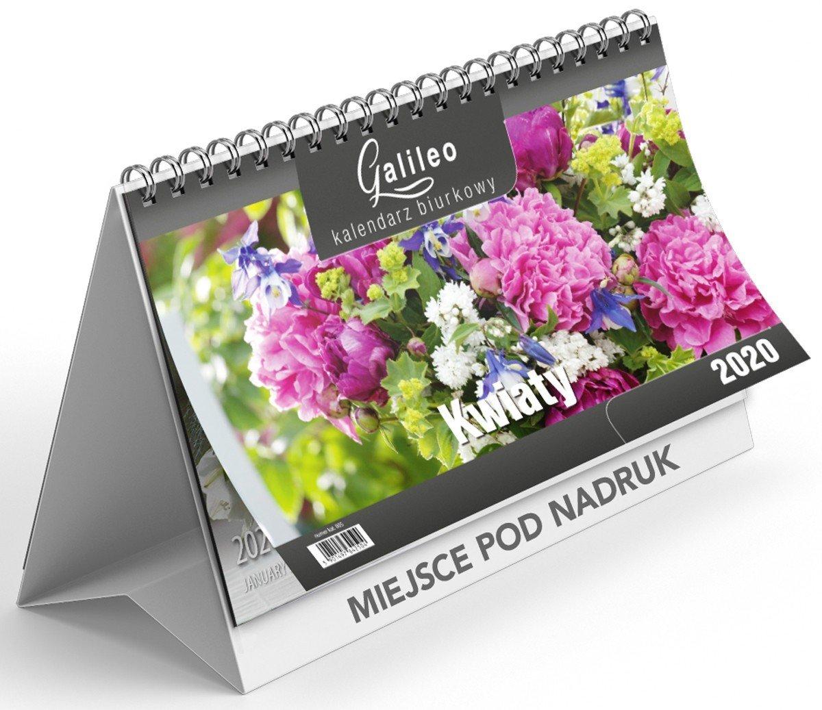 Kalendarz biurkowy poziomy okładka