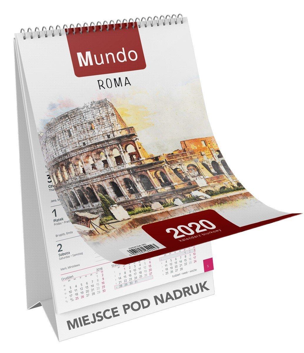 Kalendarz biurkowy stojący okładka
