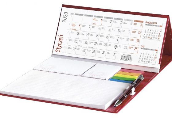 Kalendarze na biurko z notesem