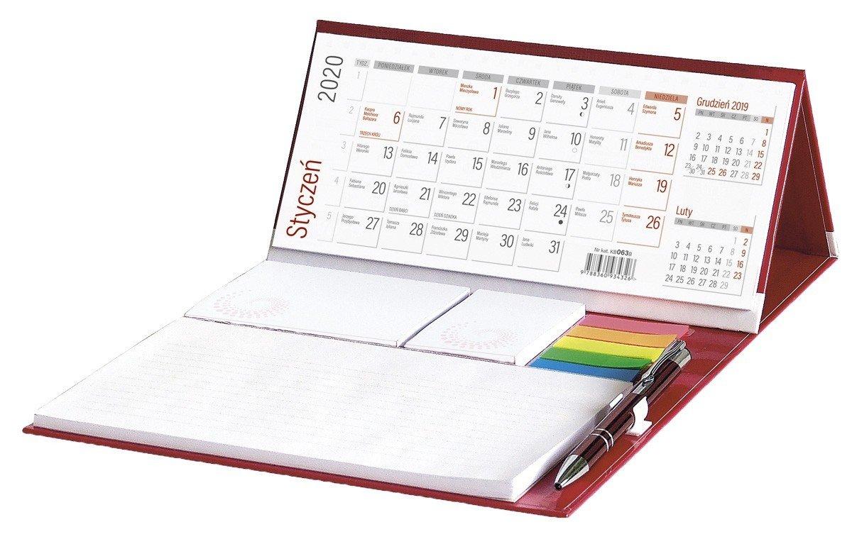 Kalendarz biurkowy z notesem