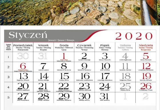 Kalendarze jedno i wielodzielne