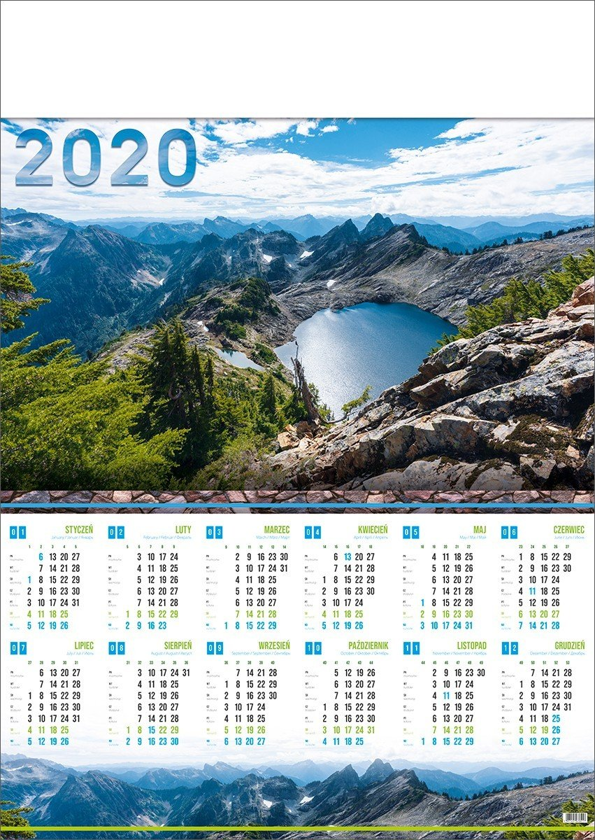 Kalendarz plakatowy A1