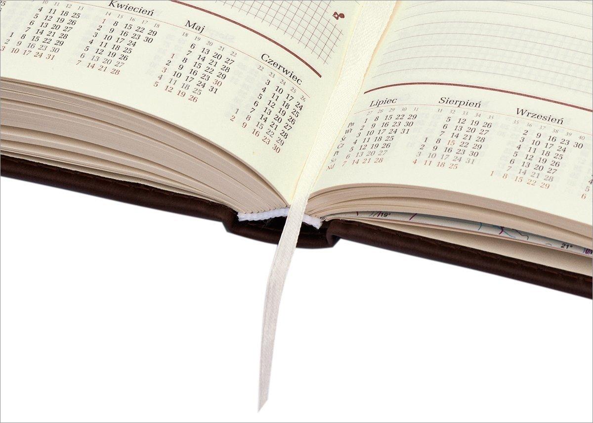 Kalendarz ksiązkowy z tygodniowym kalendarium