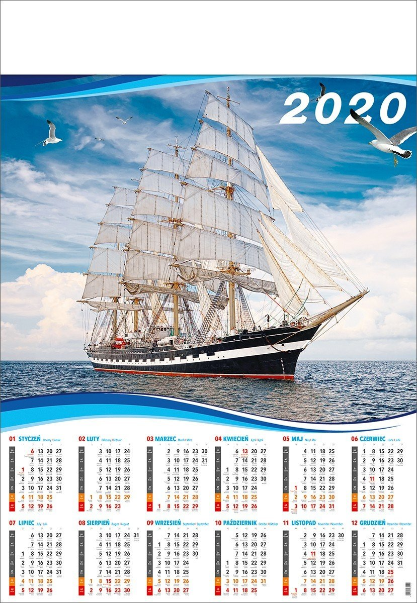 Kalendarz plakatowy B1